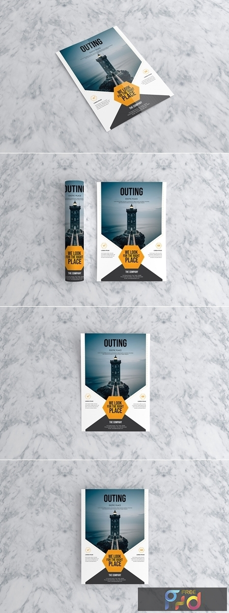 OUTING Travel Flyer Template 1