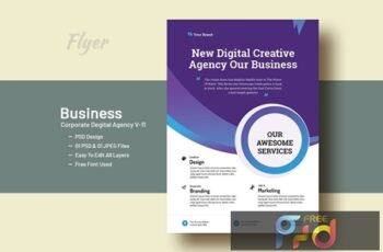 Business And Corporate Digital Agency Flyer V-9 4