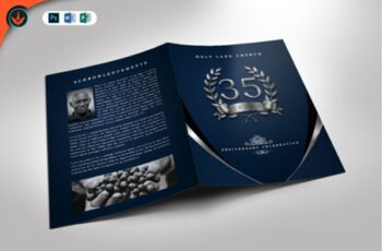 Silver Navy Blue Anniversary Program 1576428 5