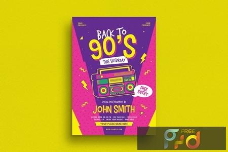 90s Radio Music Flyer 1