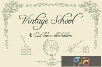 Vintage School Illustrations 8