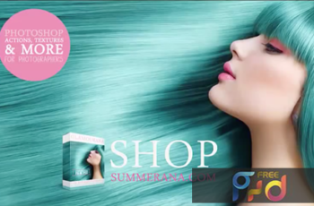 Glamourana Makeup & Hair Essentials Photoshop Action Collection 5uFCTjGG