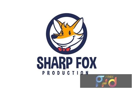 Cartoon Fox Emblem Mascot Logo 1