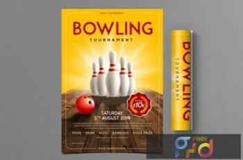Bowling Tournament Flyer N7W93LC 4