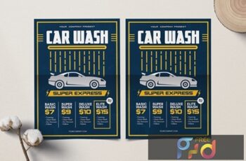 Car Wash Flyer Z6GC7NJ 3
