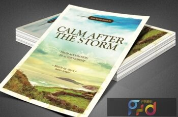 Calm After the Storm Church Flyer 3901458 5