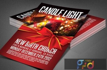 Candle Light Service Church Flyer 3883772