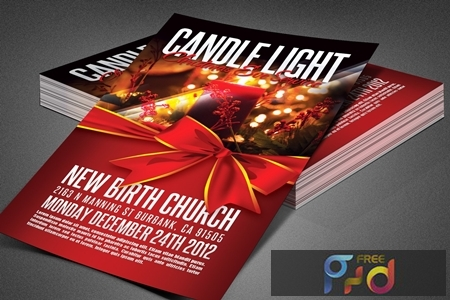 Candle Light Service Church Flyer 3883772 1