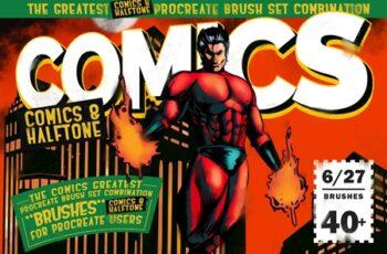 Comics & Halftone Procreate Brushes 3903606 8