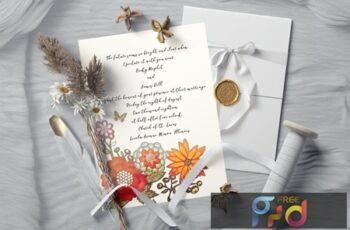 Vintage Wedding Invitation Suite 5XDSTJ7 2