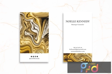 Abstract Business Card Design Professional UEWJ7QG 1