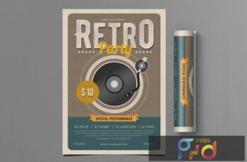 Retro Party Flyer FGQ8YZD 4