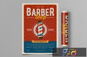 Retro Barbershop Flyer 5