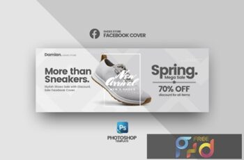 Damian - Shoes Store Facebook Cover Template 3
