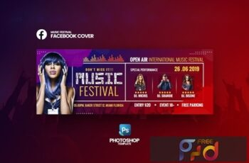 Music Festival Facebook Cover Template 5