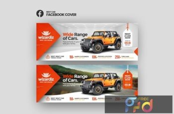 Wizardiz - Rent Car Facebook Cover Template 5