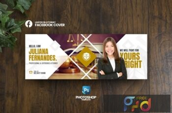 Lawyer Facebook Cover Template 4