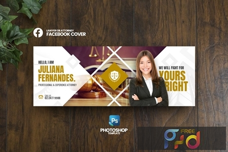 Lawyer Facebook Cover Template 1