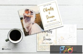 EMBRACE - Wedding Postcard Template N5BE2XA 2