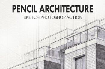 Pencil Architecture Sketch Photoshop Action 24029645 4
