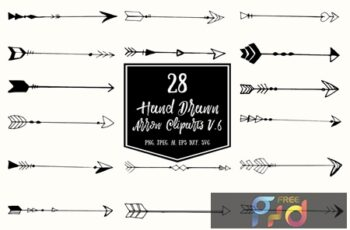 Hand Drawn Arrows Cliparts Ver. 6 TGY49SN