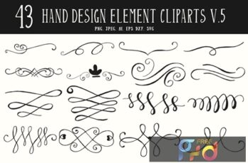 40+ Hand Design Element Cliparts Ver. 5 D3LZFQW 3