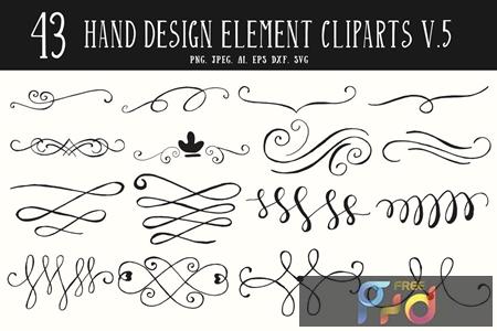 40+ Hand Design Element Cliparts Ver. 5 D3LZFQW 1