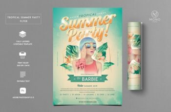 Tropical Party Flyer 3953763 7