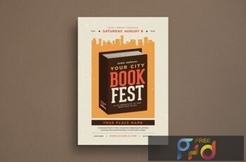 Book Festival Event Flyer 6CK23WE 6