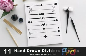 Hand Drawn Dividers Cliparts MFEWJTH 3