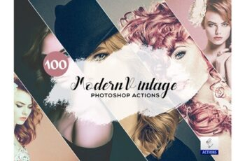 100 Modern Vintage Photoshop Actions 3934804 6