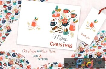 Spicy Christmas Greeting Card and Pattern MWVHNSR 2