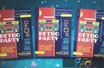 Retro Party Flyer KP6DYSX 4