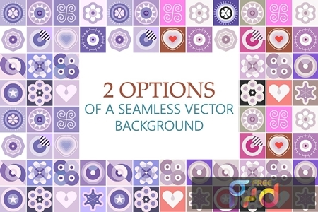 2 Options of a Seamless Patterns Vector Background 4GJ6YZN 1