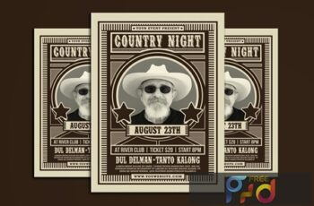 Country Music Flyer 5RFC32W 7