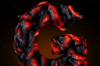 Lava Text & Numbers Set 24196160 4