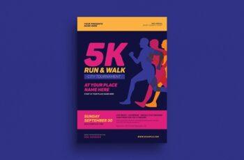 5k Run & Walk Event Flyer 3971305 5