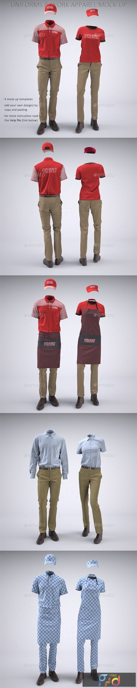 Food Service Uniforms and Retail Uniforms Mock-Up 22094416 1