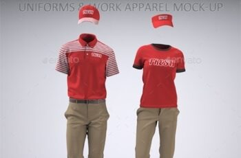 Food Service Uniforms and Retail Uniforms Mock-Up 22094416 2