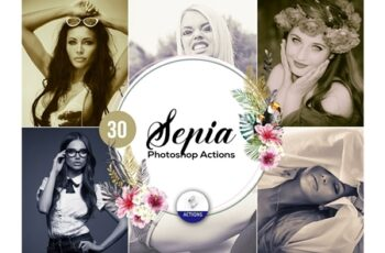 30 Sepia Photoshop Actions 3937969 2