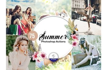 75 Summer Photoshop Actions Vol2 3937975 3