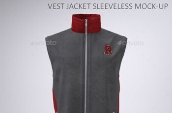 Vest or Sleeveless Jacket Mock-Up 22766697 1