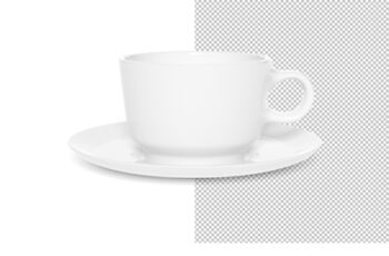 Ceramic Cup Isolated on White Mockup 249382768 12