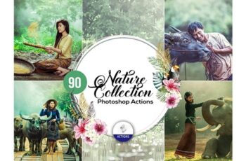 90 Nature Photoshop Actions Vol2 3937918 3