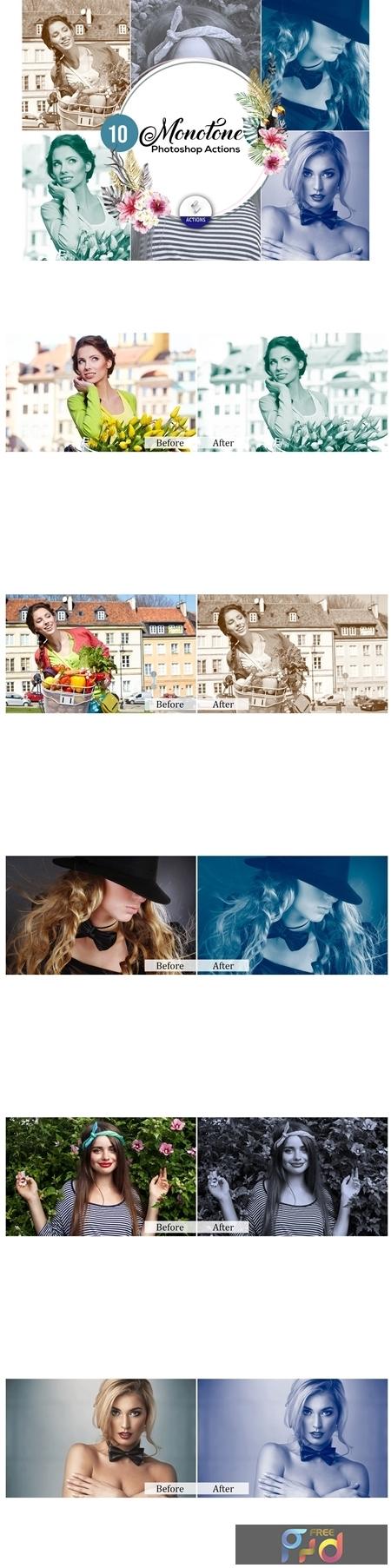 100 Monotone Photoshop Actions 3607217 1