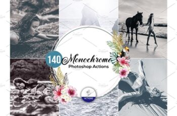 140 Monochrome Photoshop Actions 3937900 3