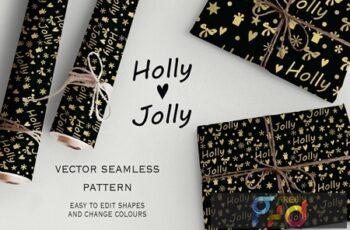 Holly jolly seamless pattern SU9MQ6B 5