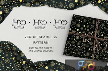 Ho-Ho-Ho seamless pattern 5UFYJGQ 7