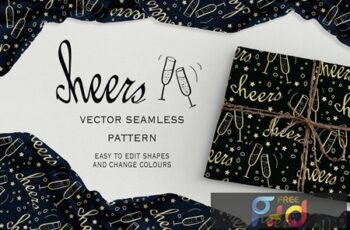 Cheers seamless pattern X7H2KMJ 3