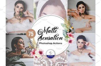 75 Matte Sensation Photoshop Actions 3937878 5